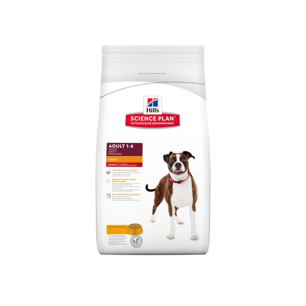 Hill´s science plan canine adult light chicken 12kg