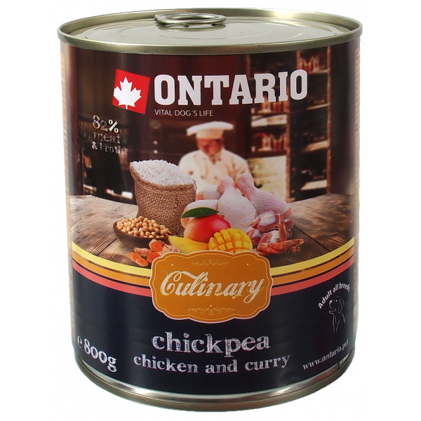 Ontario konzerva culinary chickpea, chicken and curry 800g