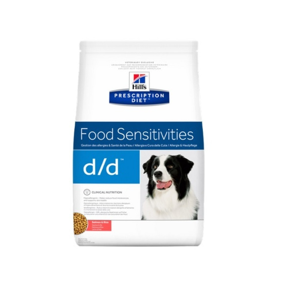 Hill´s Prescription Diet Canine dd Salmon  Rice 12kg