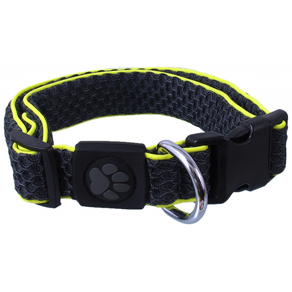 Obojek active dog mellow l šedý 3,2x42-67cm