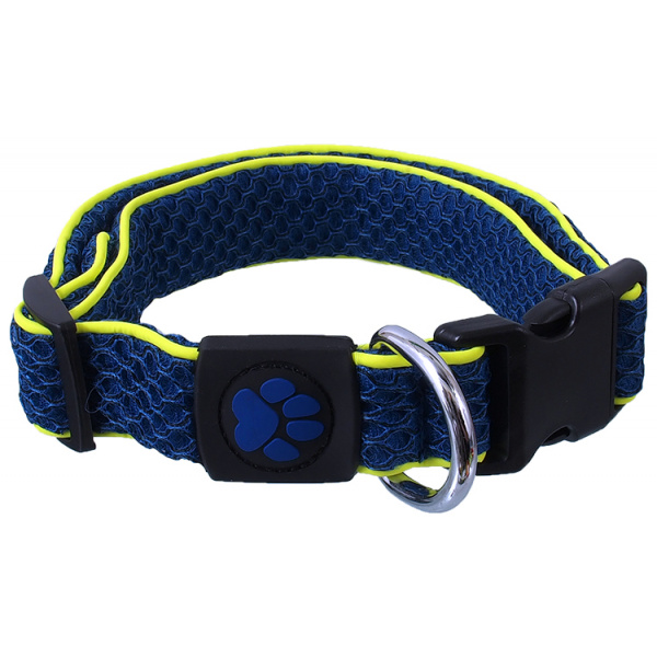 Obojek active dog mellow xl tm. modrý 3,8x45-70cm