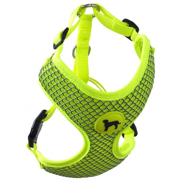Postroj active dog mellow l limetka 2x45-65cm