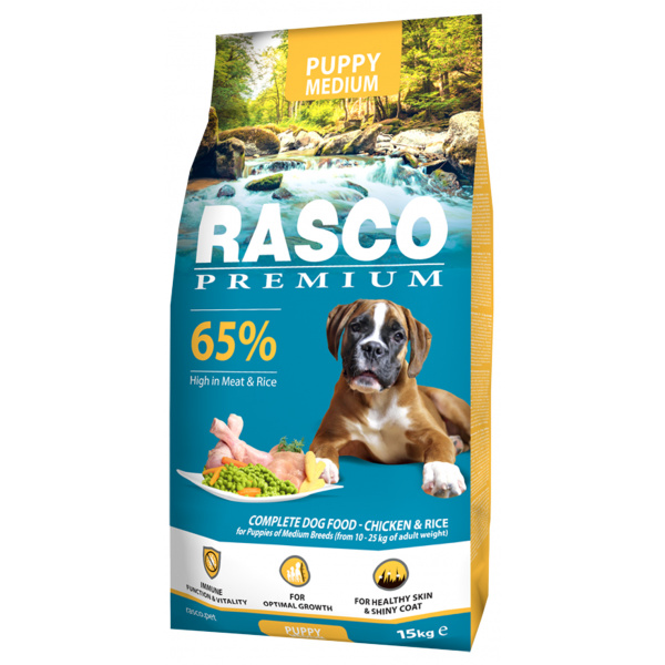 Rasco premium puppyjunior medium 15kg