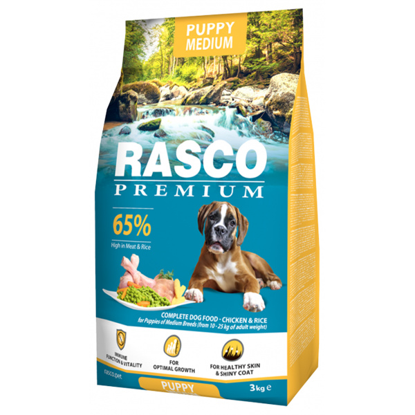 Rasco premium puppyjunior medium 3kg