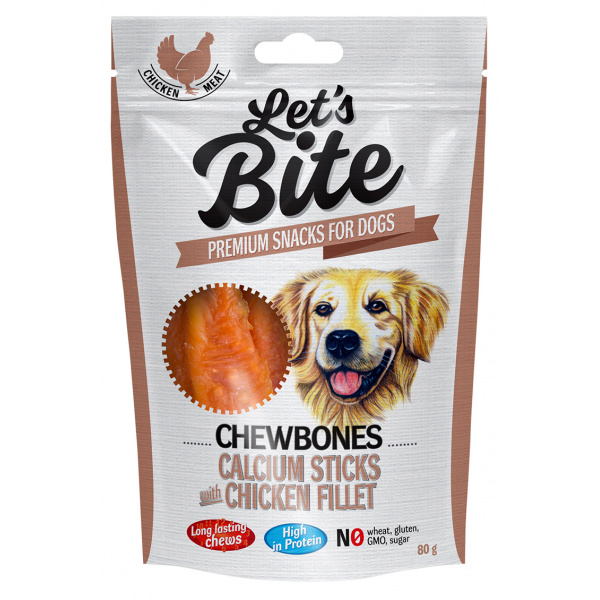Brit let´s bite chewbones calcium sticks with chicken fillet 80g