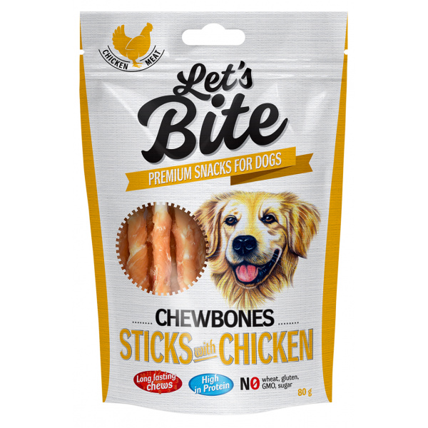 Brit let´s bite chewbones sticks with chicken 80g