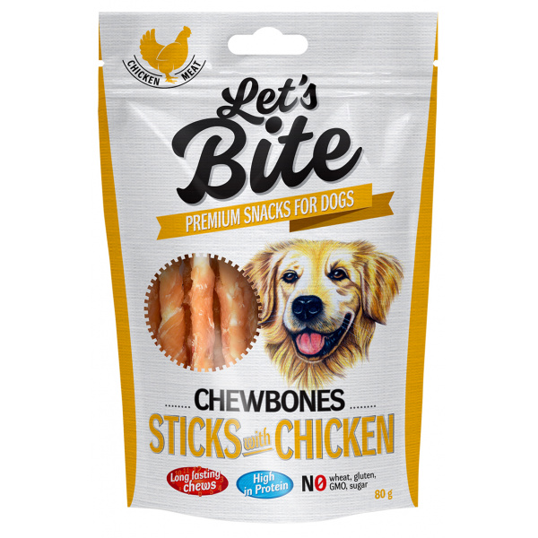 Brit let´s bite chewbones sticks with chicken 300g