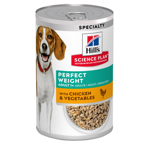 Konzerva Hill´s Science Plan Canine Perfect weight Chicken  Vegetable 363g