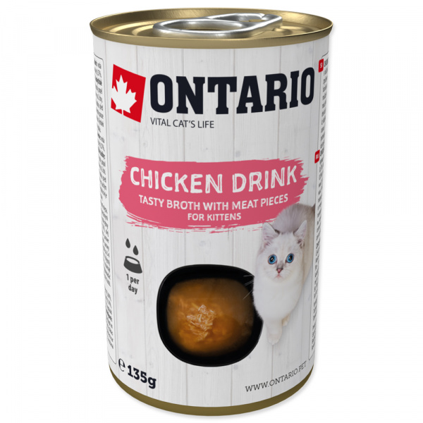 Nápoj ontario kitten drink chicken 135g