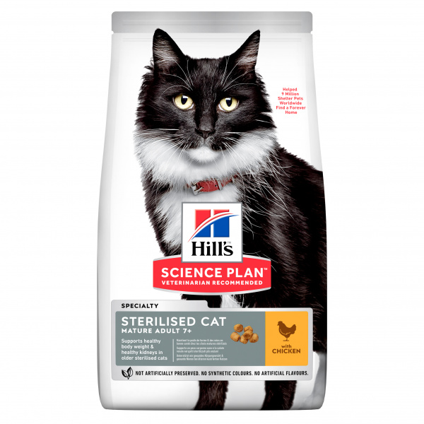 Hill´s Science Plan Feline Mature Adult 7 Sterilised Cat Chicken 10kg