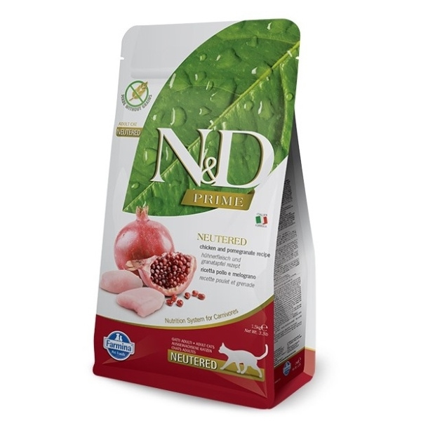 ND Prime Cat Neutered Chicken  Pomegranate 1,5kg