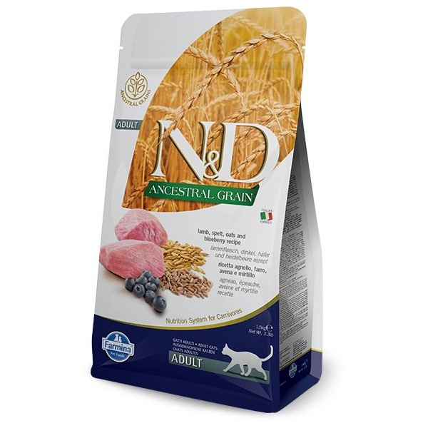 ND Ancestral Grain Cat Adult Lamb  Blueberry 5kg