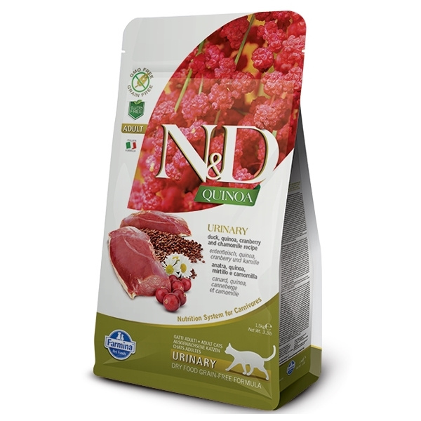 ND Quinoa Cat Urinary Duck  Cranberry 1,5kg