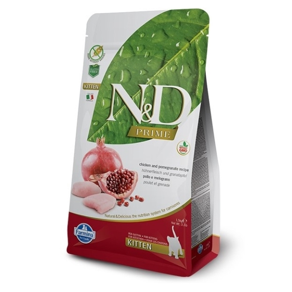 Nd prime cat kitten chicken  pomegranate 1,5kg