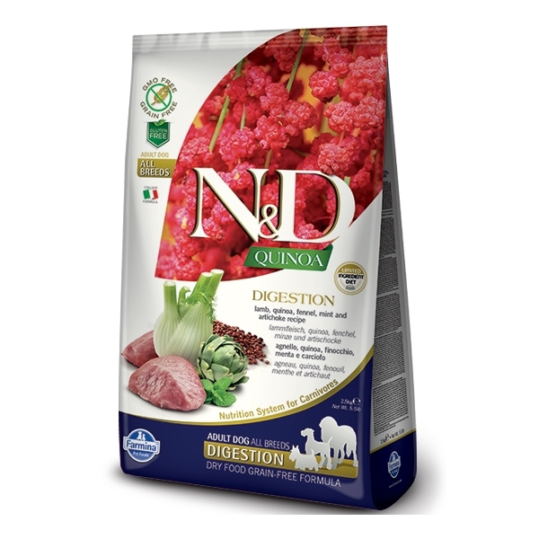 ND Quinoa Dog Digestion Lamb  Fennel 2,5kg