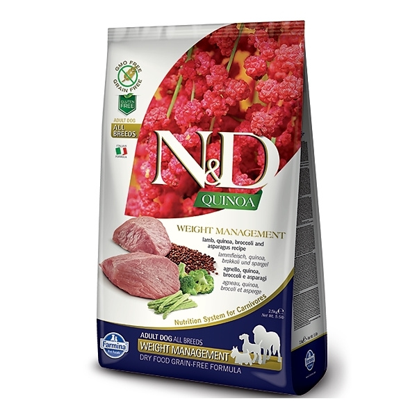 ND Quinoa Dog Weight Management Lamb  Broccoli 2,5kg