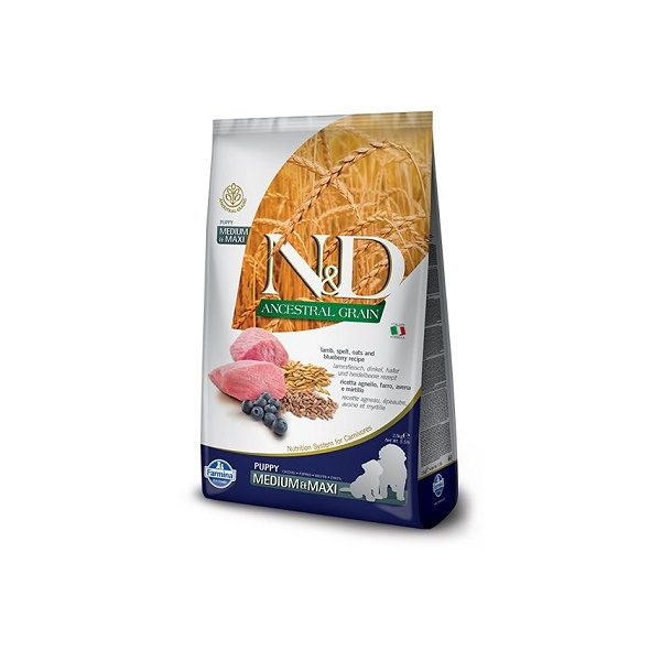 Nd ancestral grain dog puppy ml lamb  blueberry 2,5kg