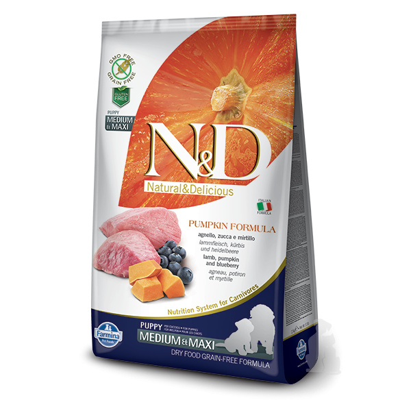 Nd pumpkin dog puppy ml lamb  blueberry 12kg