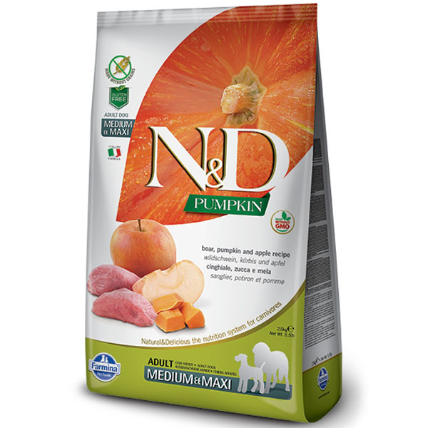 Nd pumpkin dog adult ml boar  apple 2,5kg