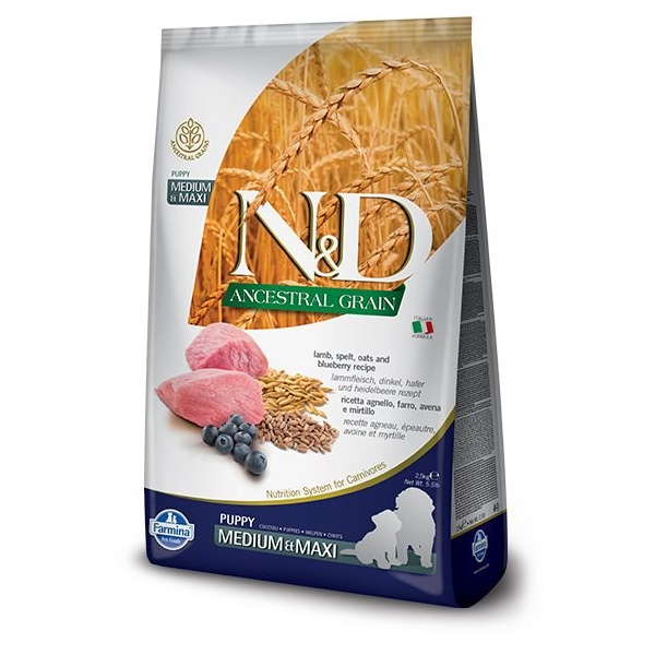 Nd ancestral grain dog puppy ml lamb  blueberry 12kg