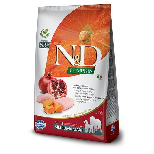 Nd pumpkin dog adult ml chicken  pomegranate 12kg