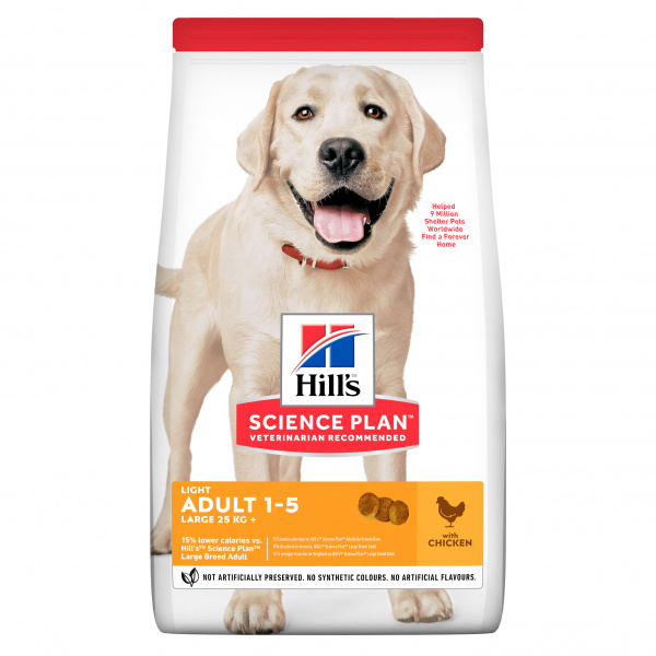 Hill´s Science Plan Canine Adult Light Large Breed Chicken 18kg