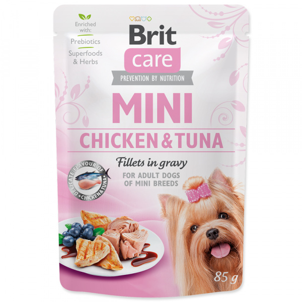 Kapsička brit care mini chicken  tuna fillets in gravy 85g