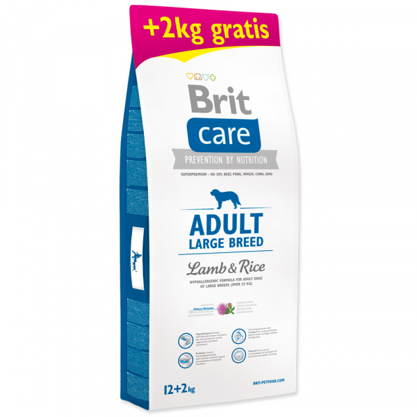 Brit care adult large breed lamb  rice 122kg zdarma