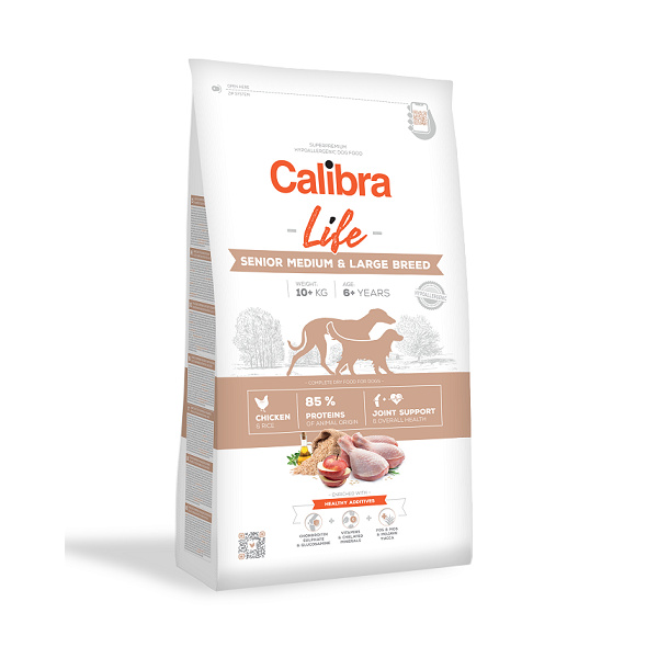 Calibra Dog Life Senior Medium  Large Chicken 12 kg