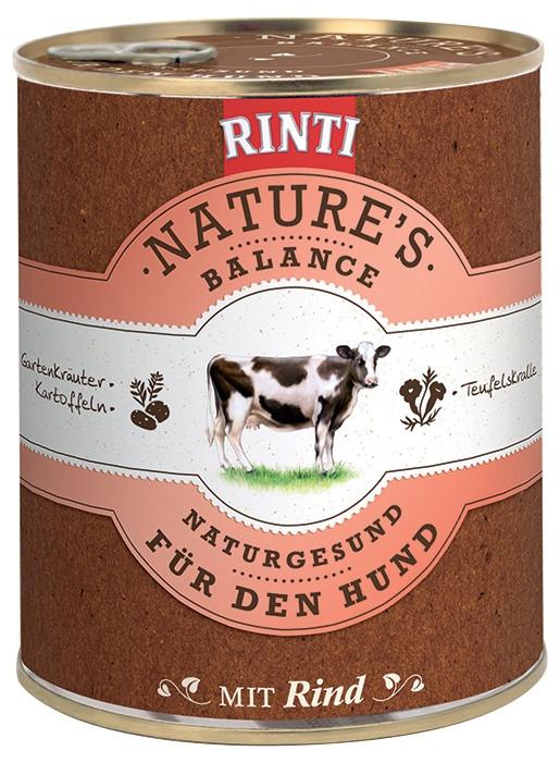 Konzerva RINTI Nature's Balance hovězí + brambory + vejce 800g