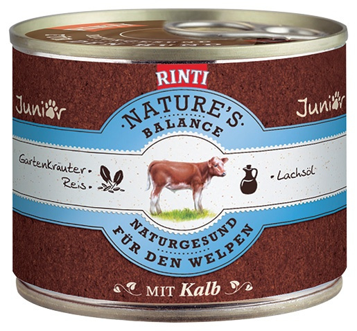 Konzerva RINTI Nature's Balance telecí + těstoviny + vejce 185g