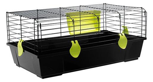 Klec SMALL ANIMAL Ludvík černá se zelenou výbavou