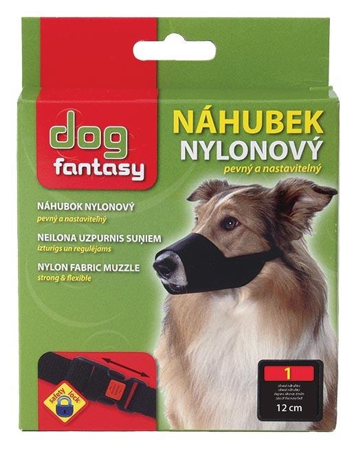 Náhubek DOG FANTASY nylonový černý č.1