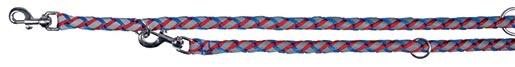 Vodítko pro psy Trixie reflexní, přepínací modro-červené 2m*18mm