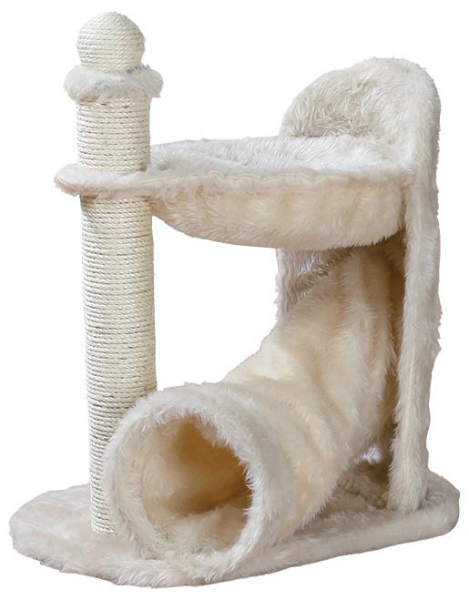 Odpočívadlo se škrabadlem pro kočky Trixie Gandia krémová 68cm