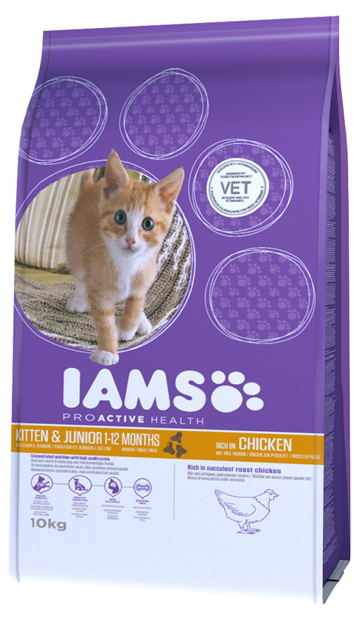 Iams Kitten & Junior Chicken 10kg