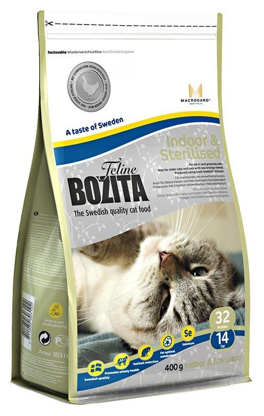 BOZITA Feline Indoor & Sterilised 0,4kg