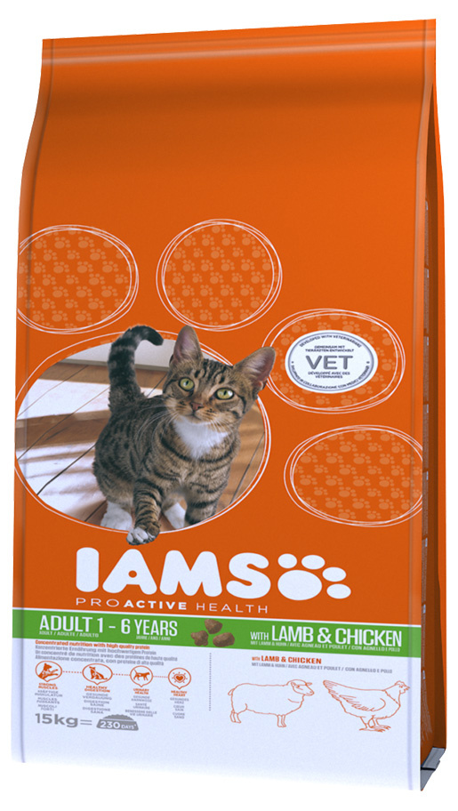 Iams Cat Adult Lamb 15kg