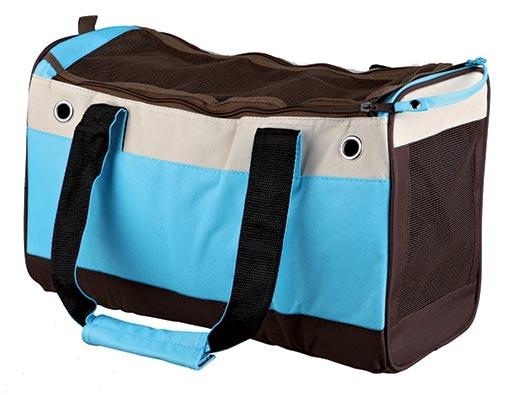 Taška přenosná Trixie Fiona 18*25*40cm modro-béžovo-hnědá