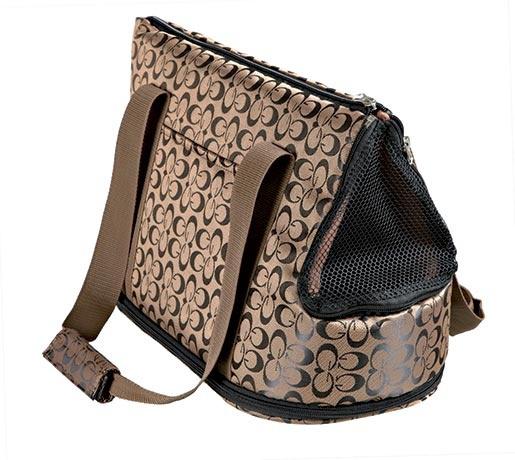 Taška přenosná pro psy Trixie Georgia 21*25*45cm bronzovo-černá