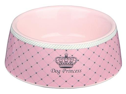Miska keramická pro psy Trixie Dog Princess růžová 12cm*180ml