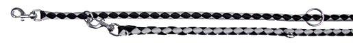 Vodítko pro psy Trixie Cavo nastavitelné černá/stříbrná 12mm