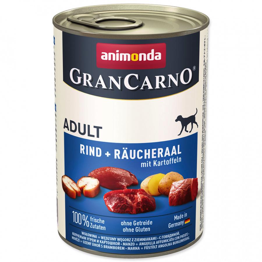 Konzerva ANIMONDA Gran Carno hovězí + úhoř + brambory 400g