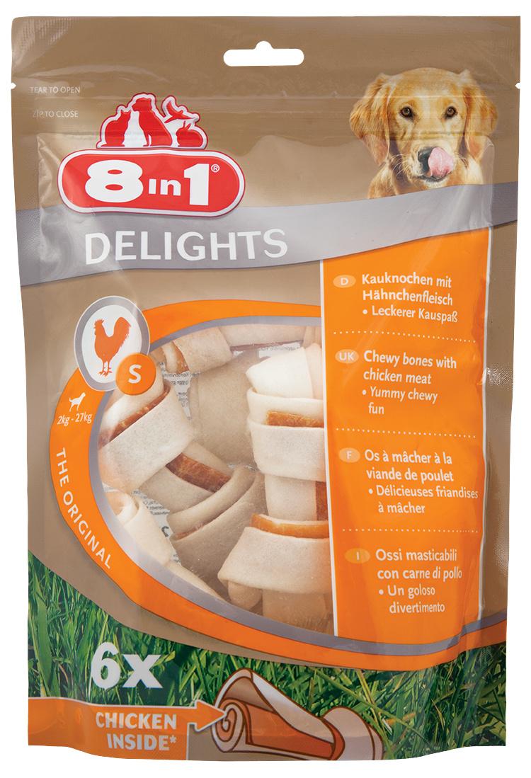 Kosti 8in1 Delights žvýkací S bag 6ks