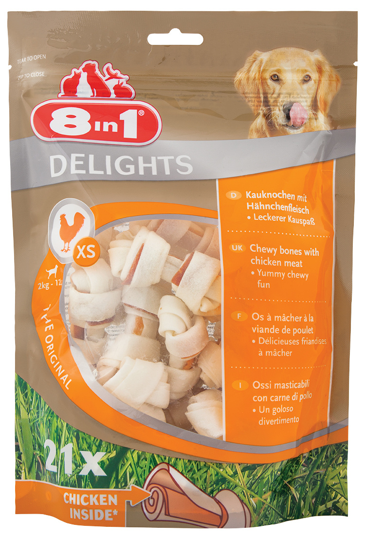 Kosti 8in1 Delights žvýkací XS bag 21ks