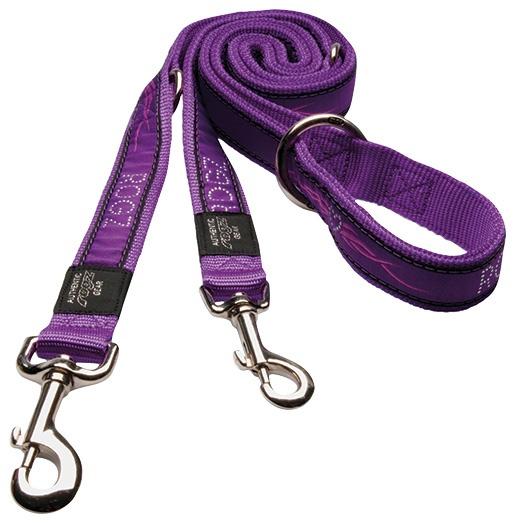 Vodítko Rogz Fancy Dress Purple Chrome přepínací XL
