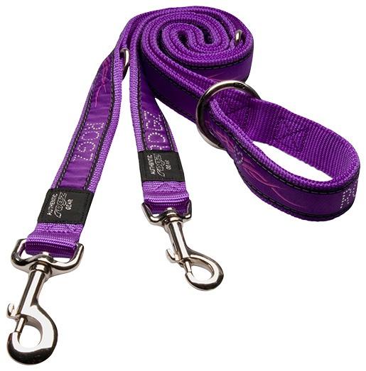 Vodítko Rogz Fancy Dress Purple Chrome přepínací M