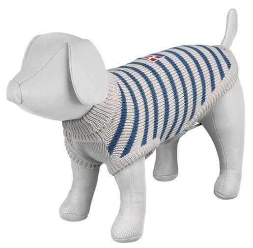 Svetr pro psy Trixie L Milton šedo-modrá 55cm