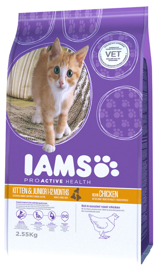 Iams Kitten  Junior Chicken 2,55kg