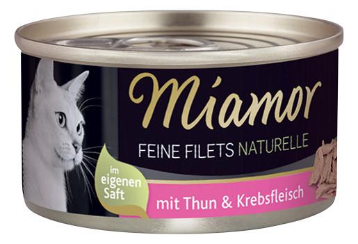 Konzerva MIAMOR Feine Filets Naturelle tuňák + krab ve šťávě 80g